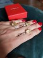 Кольцо серебряное с большим желтым фианитом