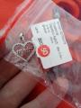 """Серебрянная подвеска для мамы в виде сердца и надписью """"mom"""" с фианитом💜💜"""