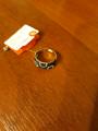 Кольцо из серебра с черными и бесцветными фианитами