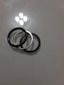 Кольцо 3 в 1 черная керамика, серебро, фианиты