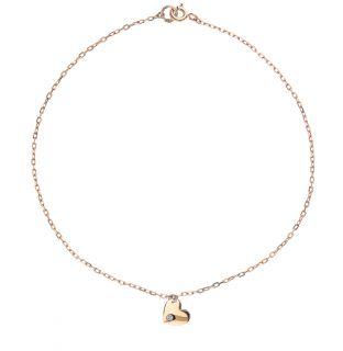 Золотой браслет с фианитами ZOLOTYE UZORY 03-3732*: красное и розовое золото, фианит — купить в интернет-магазине SUNLIGHT, фото, артикул 96936