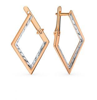 Серебряные серьги AQUAMARINE 31162.6: розовое серебро 925 пробы — купить в интернет-магазине SUNLIGHT, фото, артикул 87449