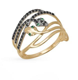 Золотое кольцо с фианитами DEL