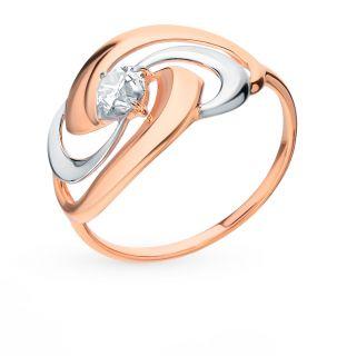 Серебряное кольцо с фианитами SOKOLOV 93010595: розовое серебро 925 пробы, фианит — купить в интернет-магазине SUNLIGHT, фото, артикул 89910