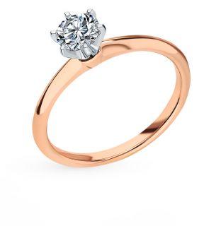 Золотое кольцо с бриллиантами БРИЛЛИАНТЫ ЯКУТИИ: белое, красное и розовое золото 585 пробы, бриллиант — купить в интернет-магазине SUNLIGHT, фото, артикул 99714