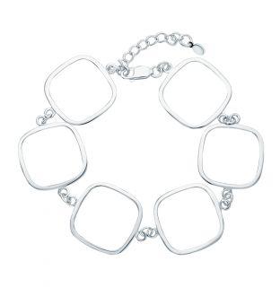 Серебряный браслет: белое серебро 925 пробы — купить в интернет-магазине SUNLIGHT, фото, артикул 123096