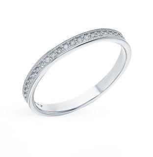 Золотое кольцо с бриллиантами ЮВЕРОС 2201913: белое золото 585 пробы, бриллиант — купить в интернет-магазине SUNLIGHT, фото, артикул 111247