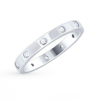 Серебряное кольцо с фианитами SOKOLOV 94012490: белое серебро 925 пробы, фианит — купить в интернет-магазине SUNLIGHT, фото, артикул 80158
