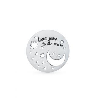 Серебряная подвеска с эмалью SUNLIGHT LM1435р_Э49: белое серебро 925 пробы, эмаль — купить в интернет-магазине Санлайт, фото, артикул 72533