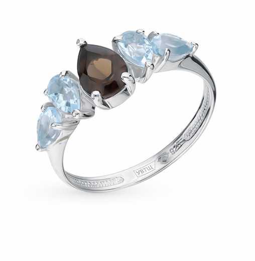 Серебряные кольца с дымчатым кварцем — купить недорого в каталоге с фото и  ценами — интернет-магазин SUNLIGHT в Москве 3a72cf9fb5f