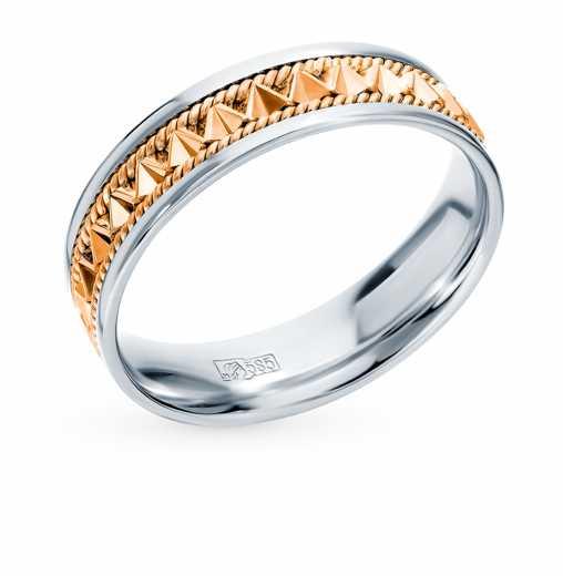 00ad99423294 Кольцо Белое золото, розовое золото 585 пробы. −50% Пушкинский ювелирный  завод