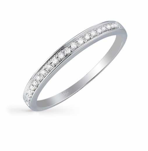 e56d2bdcee1c Кольцо с 21 бриллиантом, 0.05 карат  Белое золото 585 пробы. ХИТ SUNLIGHT