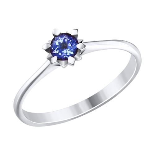 Фото «Золотое кольцо с танзанитом SOKOLOV 6014078»