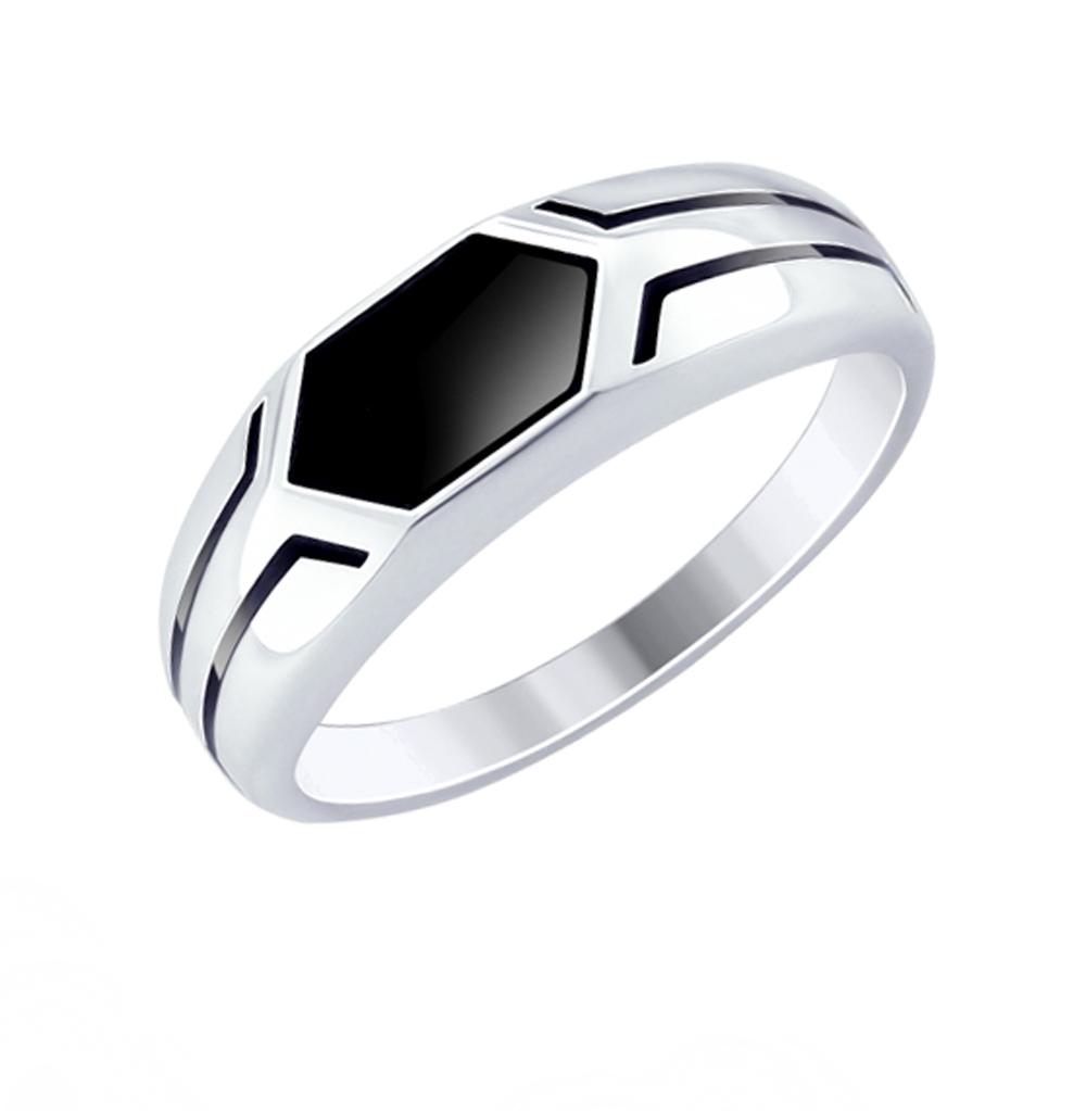 Фото «Серебряное кольцо с эмалью SOKOLOV 94012519»