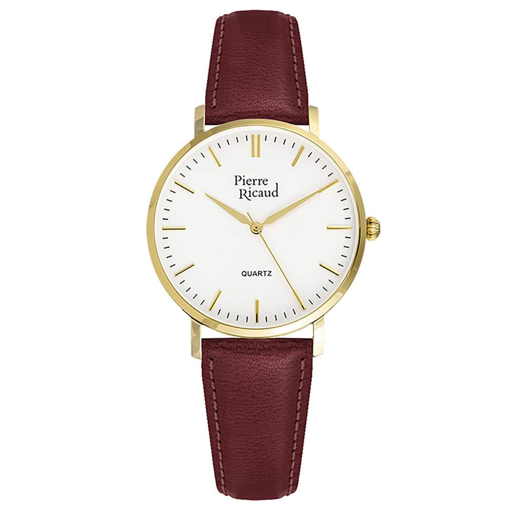 Женские кварцевые часы P51074.1013Q на кожаном ремешке с минеральным стеклом в Екатеринбурге