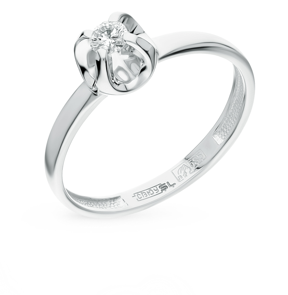 Золотое кольцо с бриллиантами от SUNLIGHT