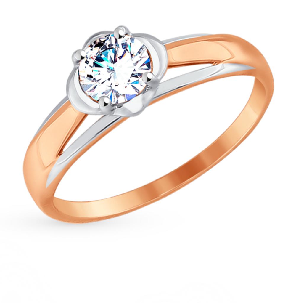 золотое кольцо с фианитами SOKOLOV 017527*