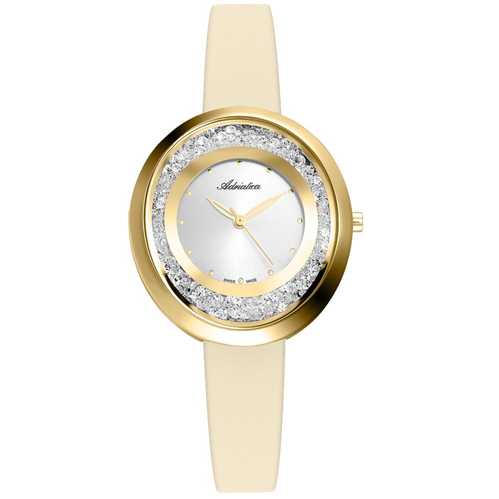 Женские часы A3771.1243QZ на кожаном ремешке с минеральным стеклом