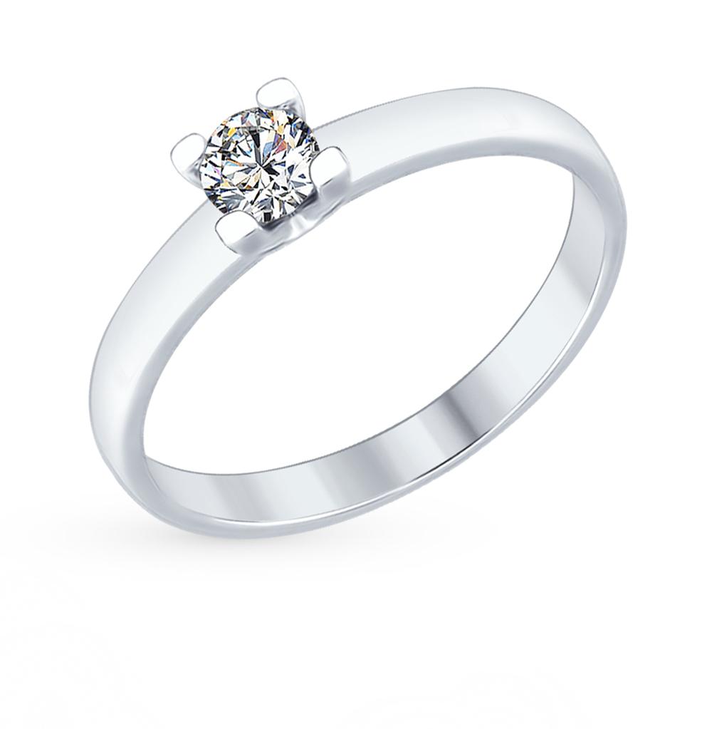 серебряное кольцо с фианитами SOKOLOV 89010060