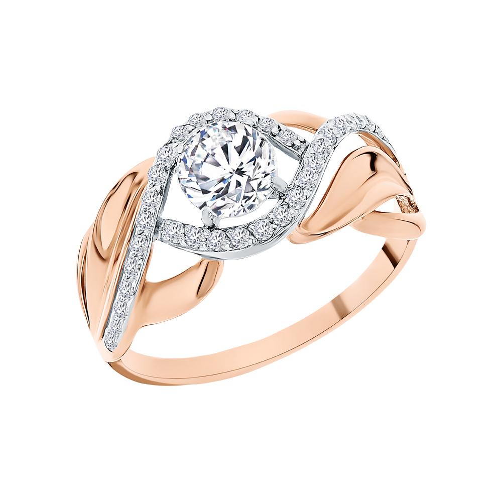 Фото «Золотое кольцо с фианитами SOKOLOV 017424*»