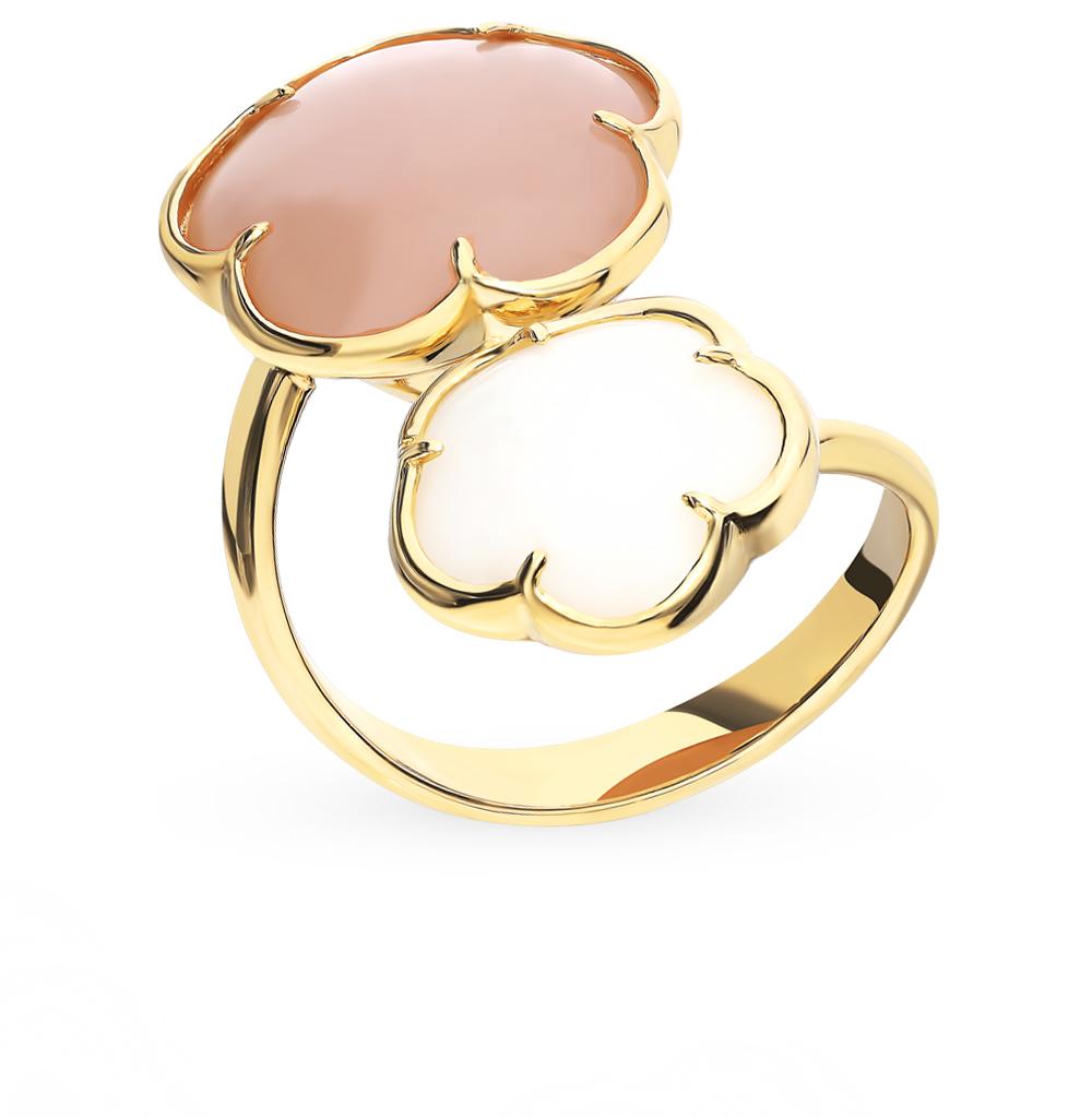 Фото «Золотое кольцо с кварцем и лунным камнем»