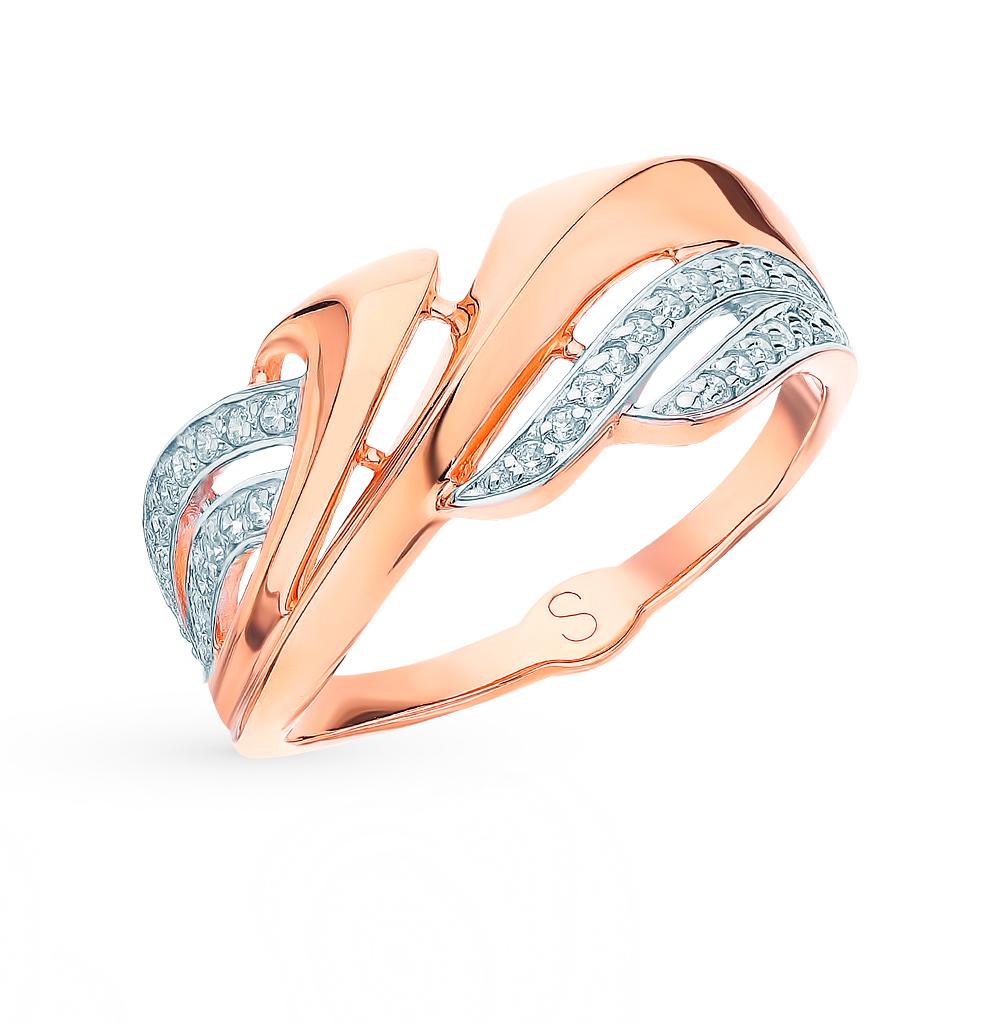 золотое кольцо с фианитами SOKOLOV 018273*