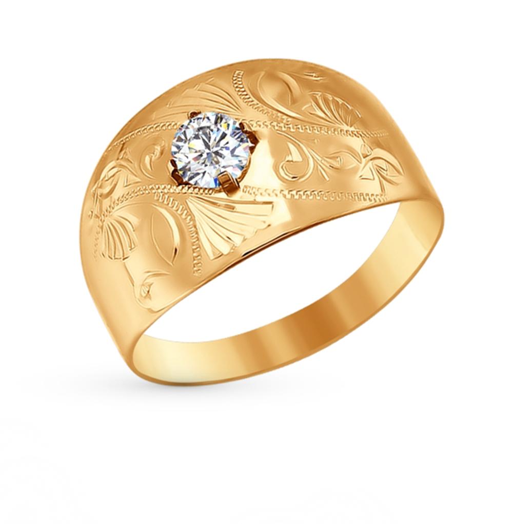 золотое кольцо с фианитами SOKOLOV 016691*