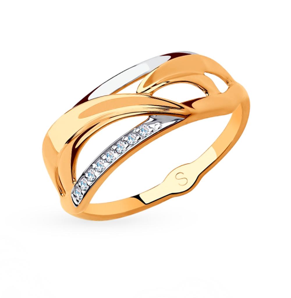 Фото «Золотое кольцо с фианитами SOKOLOV 018225»