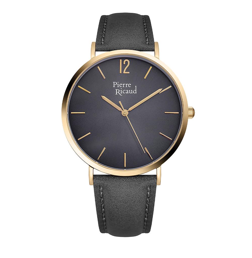 Фото «Мужские кварцевые часы P91078.1G57Q на кожаном ремешке с минеральным стеклом»