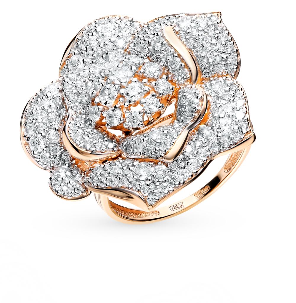 золотое кольцо с фианитами SOKOLOV 017895*