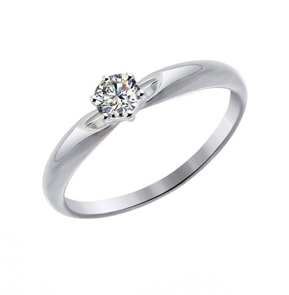 Золотое кольцо с фианитами SOKOLOV 81010215 в Санкт-Петербурге