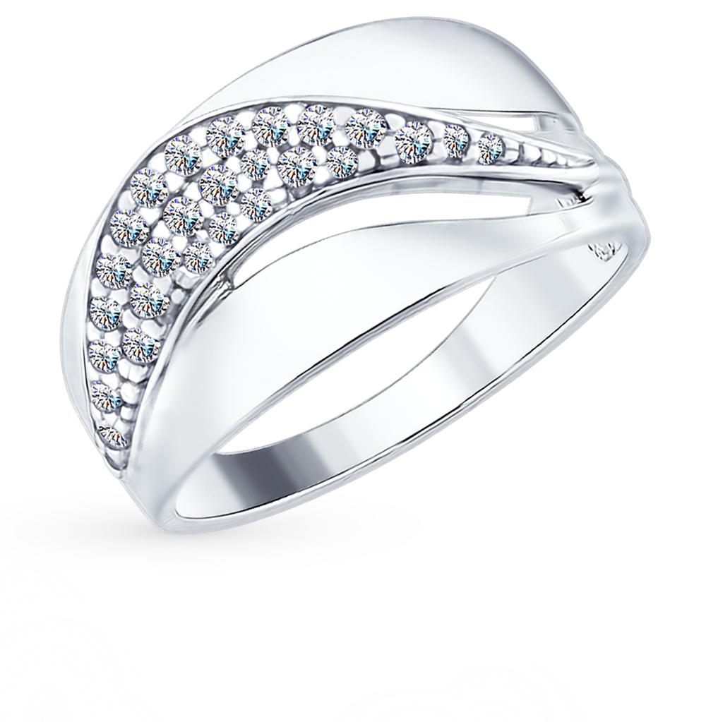серебряное кольцо с фианитами SOKOLOV 94012419