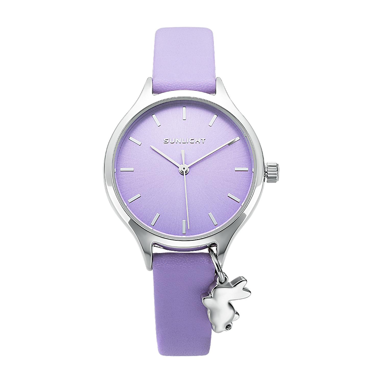 Фото «Женские часы с подвеской на кожаном ремне»