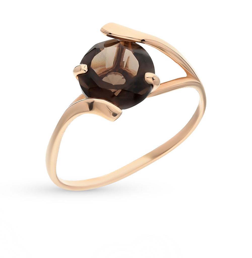 Фото «золотое кольцо с раухтопазами (кварцами дымчатый)»