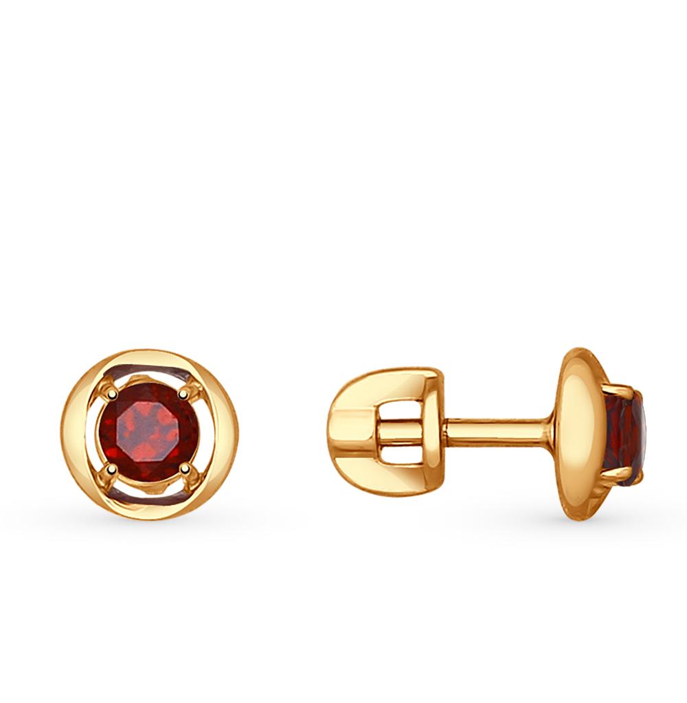 Фото «золотые серьги с гранатом»