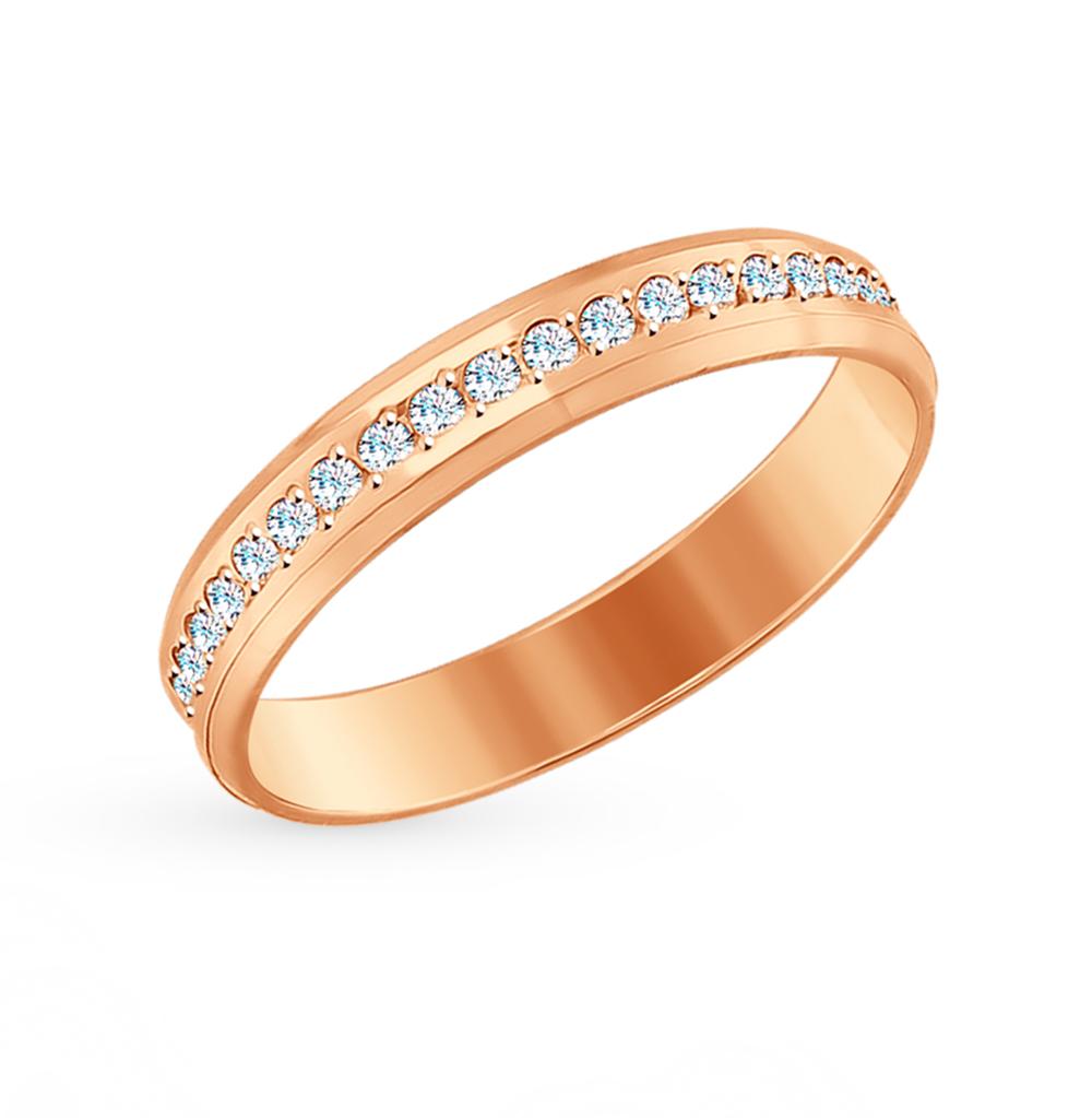 золотое кольцо с фианитами SOKOLOV 017652*