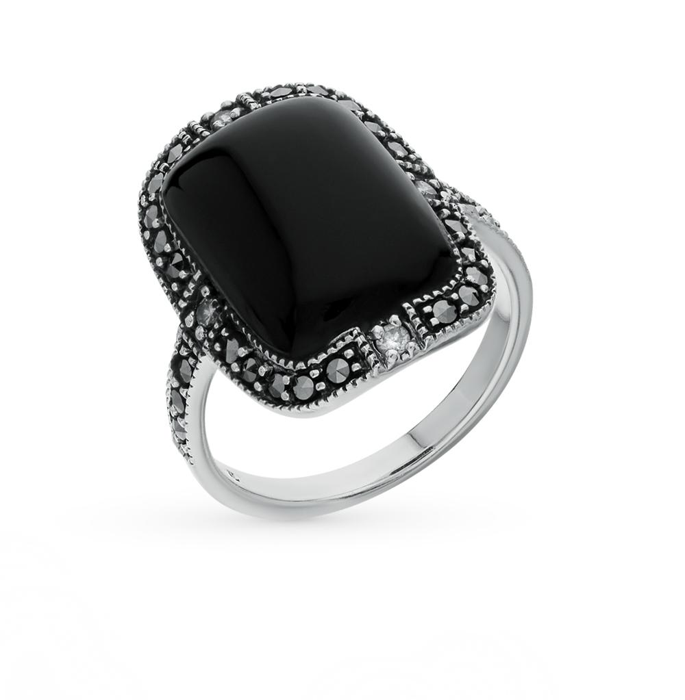Фото «серебряное кольцо с марказитами, опалами и фианитами»