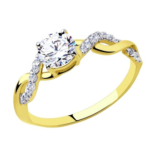 Фото «Золотое кольцо с фианитами SOKOLOV 81010465*»