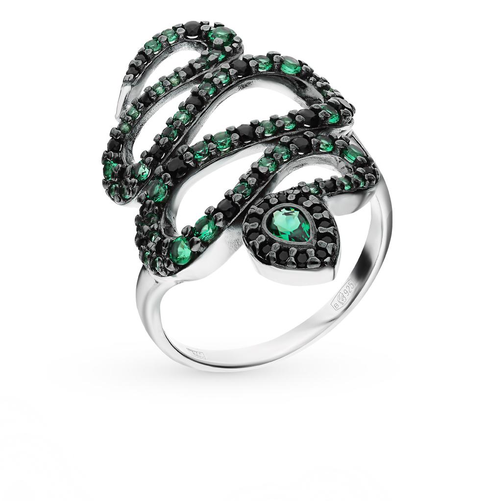 серебряное кольцо с фианитами SOKOLOV 94012581