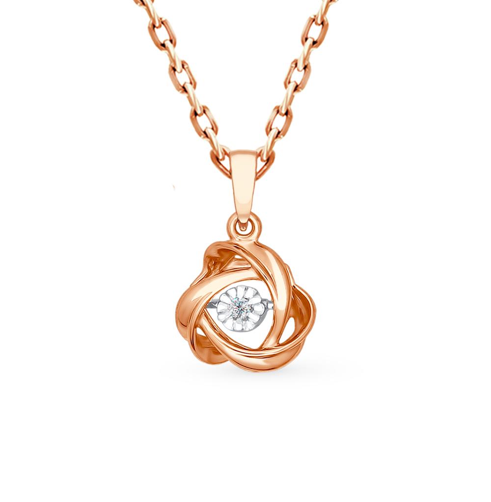золотая подвеска с бриллиантами SOKOLOV 1030556