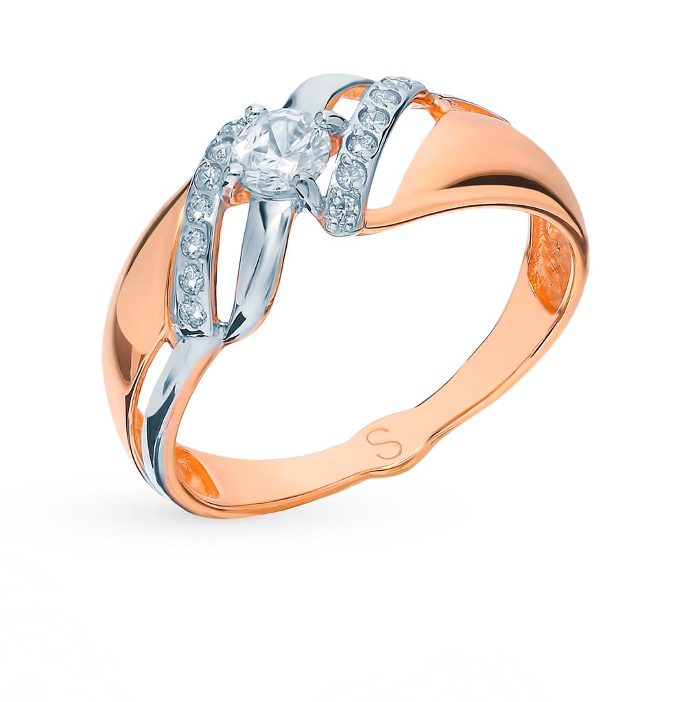 Фото «Золотое кольцо с фианитами SOKOLOV 017771*»