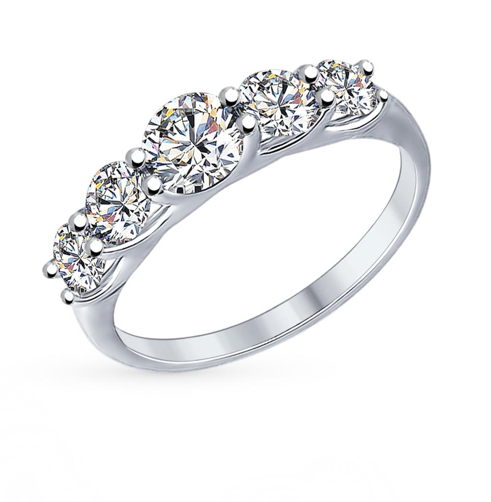серебряное кольцо с фианитами SOKOLOV 89010041