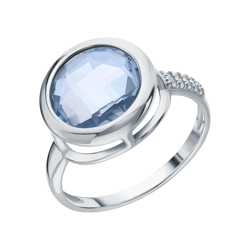 Серебряное кольцо с топазами и фианитами в Екатеринбурге