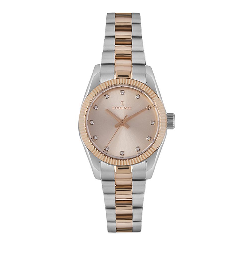 Женские часы ES6589FE.510 на стальном браслете с частичным IP покрытием с минеральным стеклом