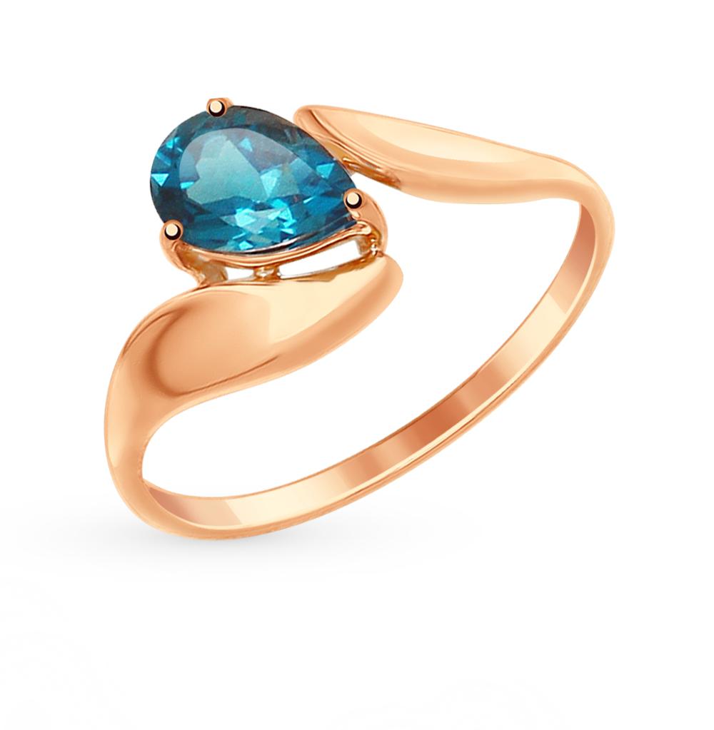 золотое кольцо с топазами SOKOLOV 714867*