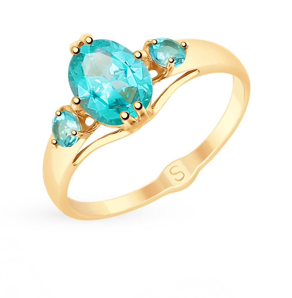 золотое кольцо с топазами SOKOLOV 715314*