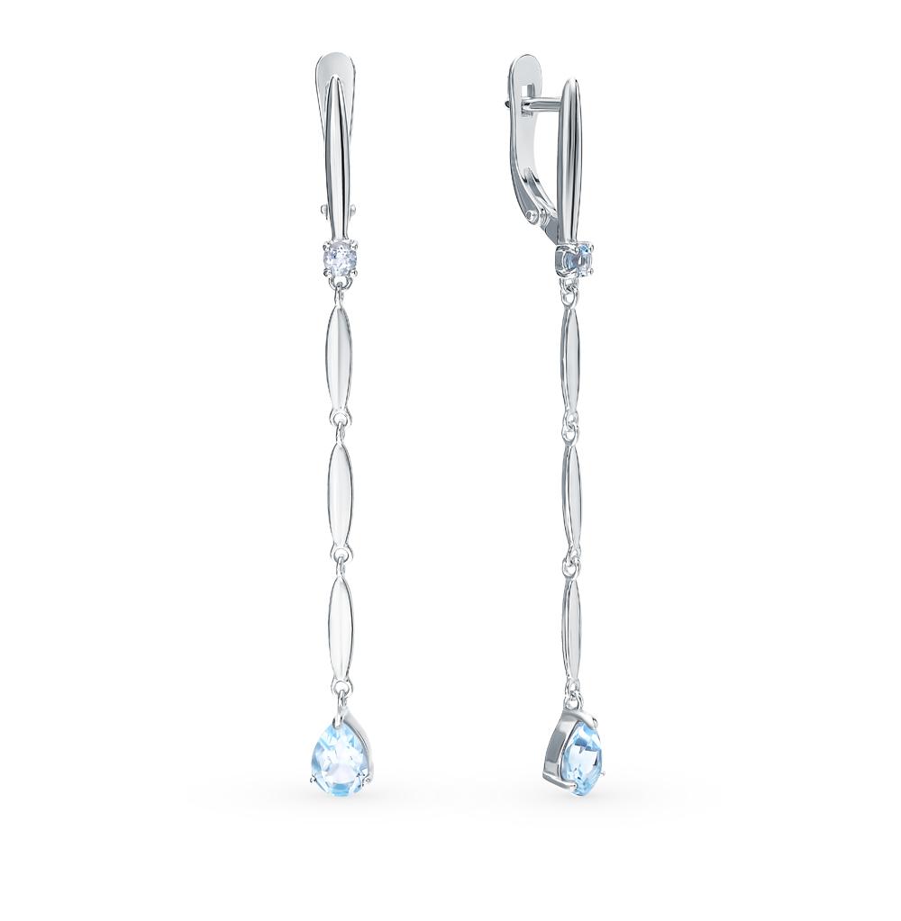 серебряные серьги с топазами SOKOLOV 92021761