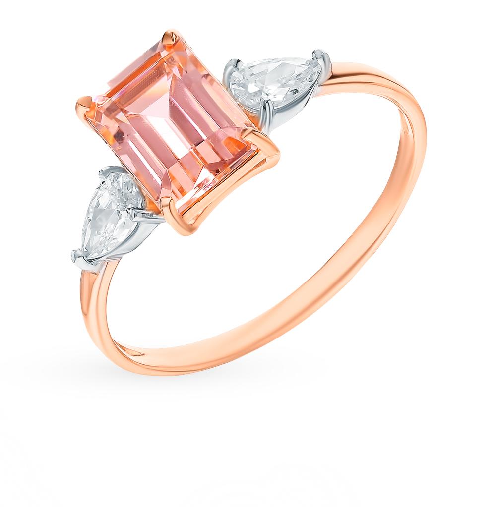 Золотое кольцо с морганитами в Екатеринбурге