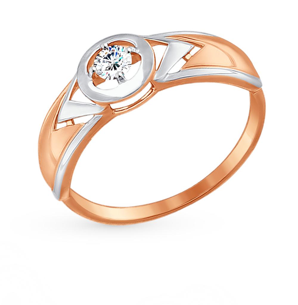 Фото «Золотое кольцо с фианитами SOKOLOV 017476*»