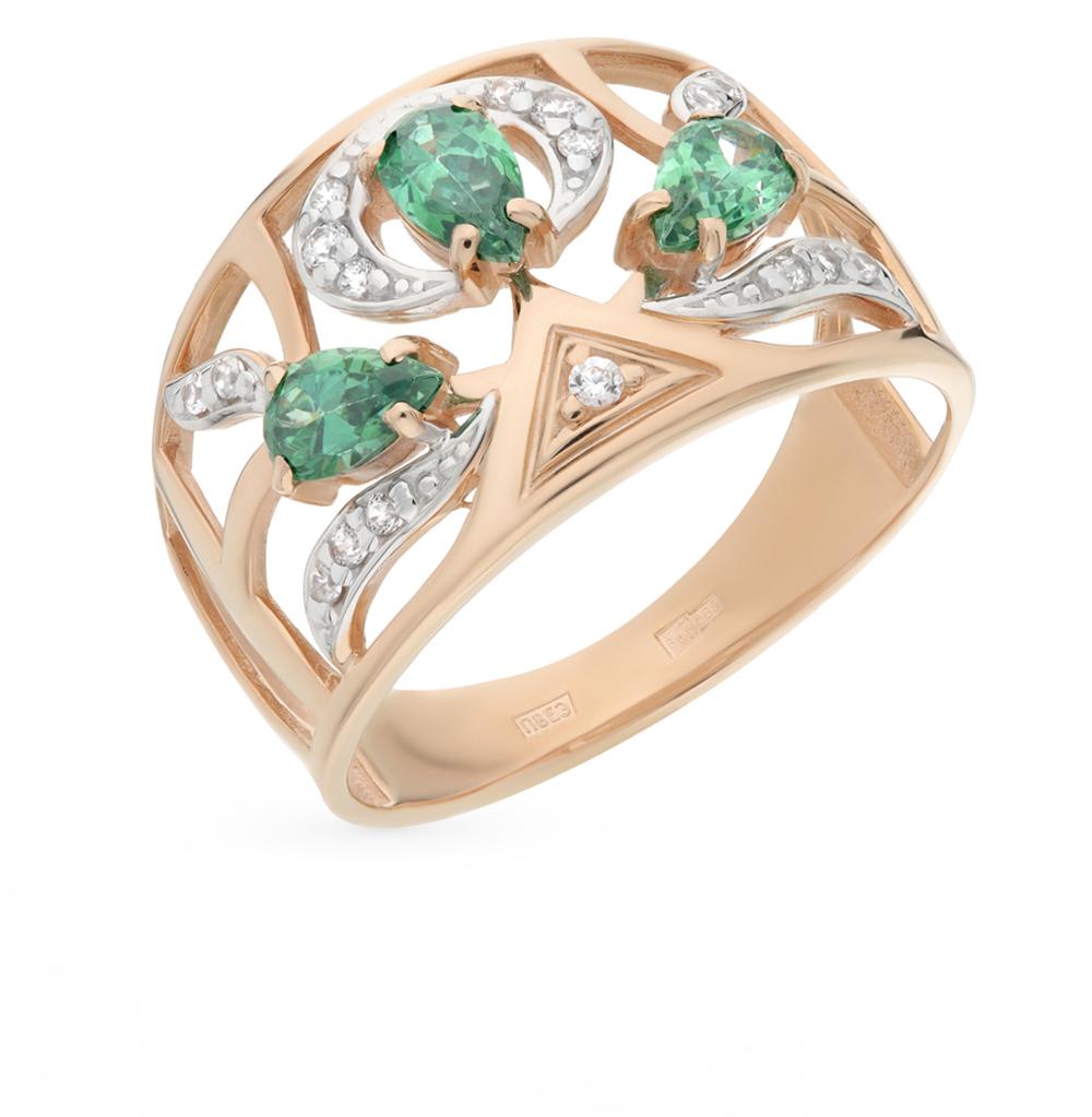 Золотое кольцо с фианитами SOKOLOV 015409* в Екатеринбурге